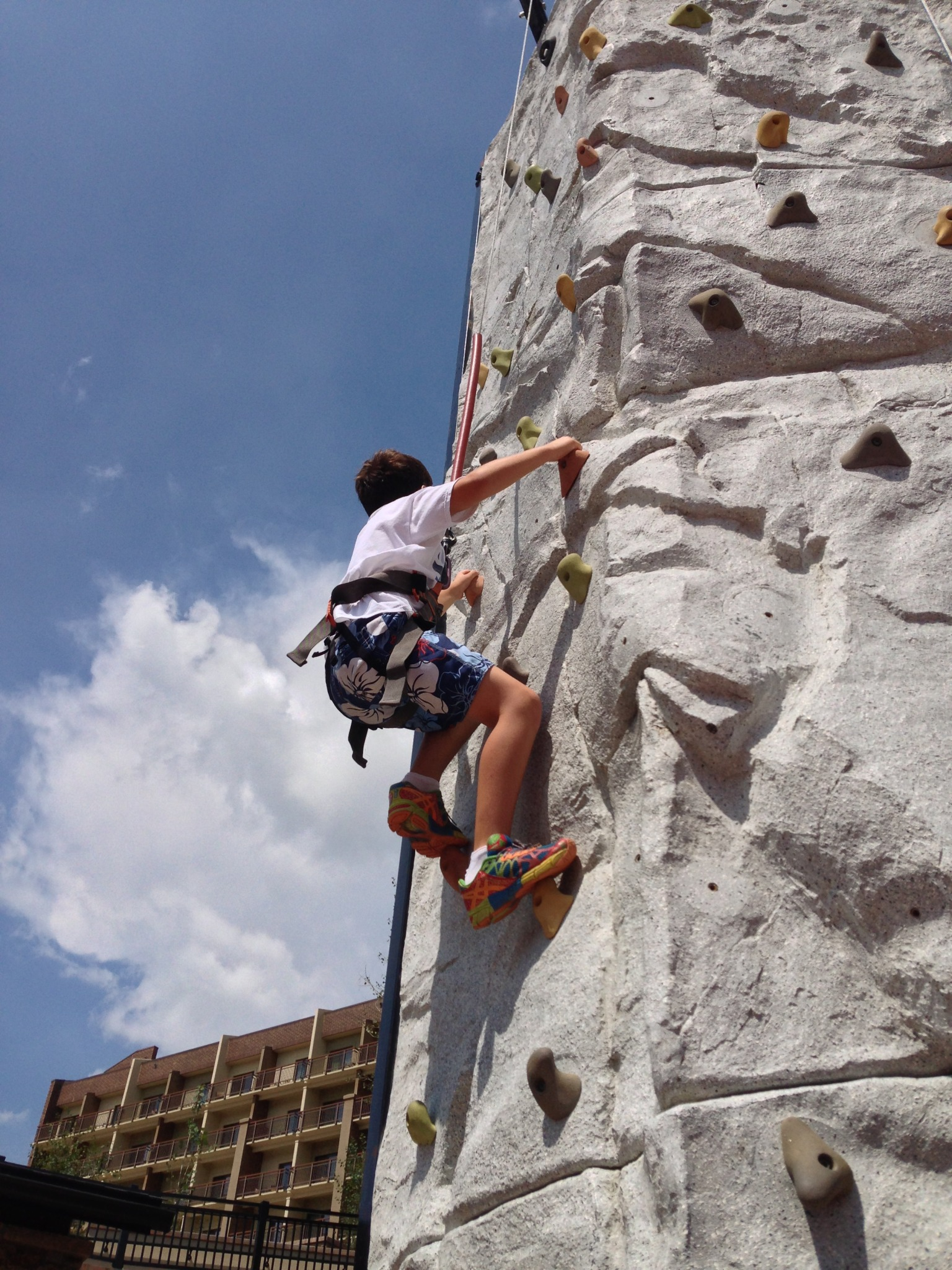 The climbing wall at Steamboat