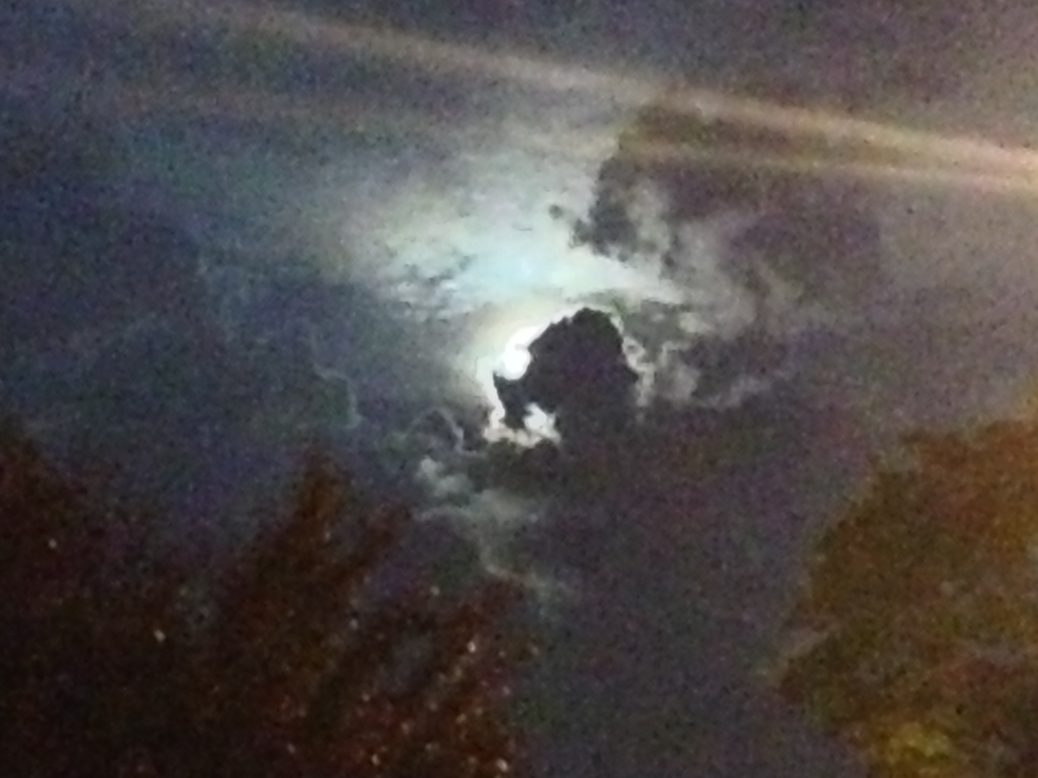 Night time horse clouds