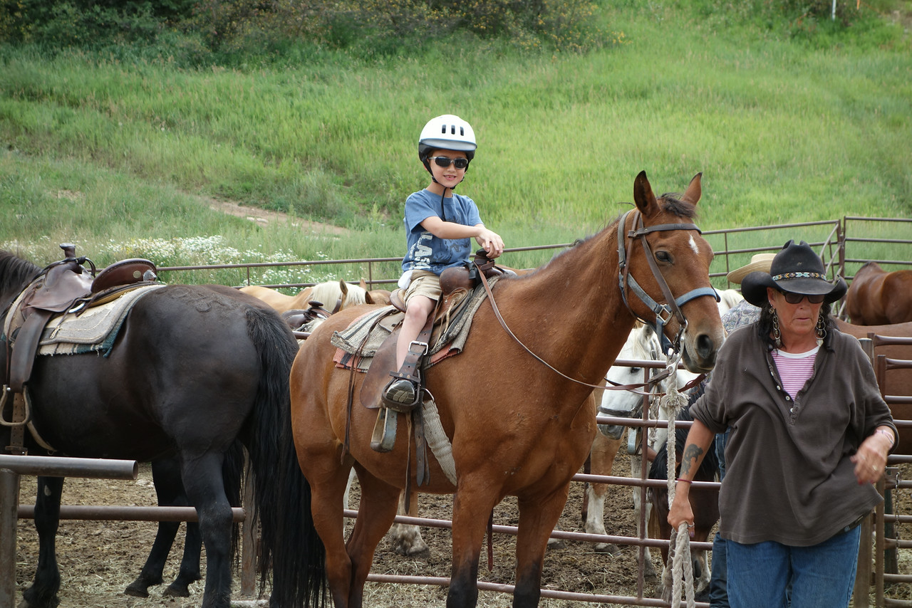 """ My first horseback riding experience!"