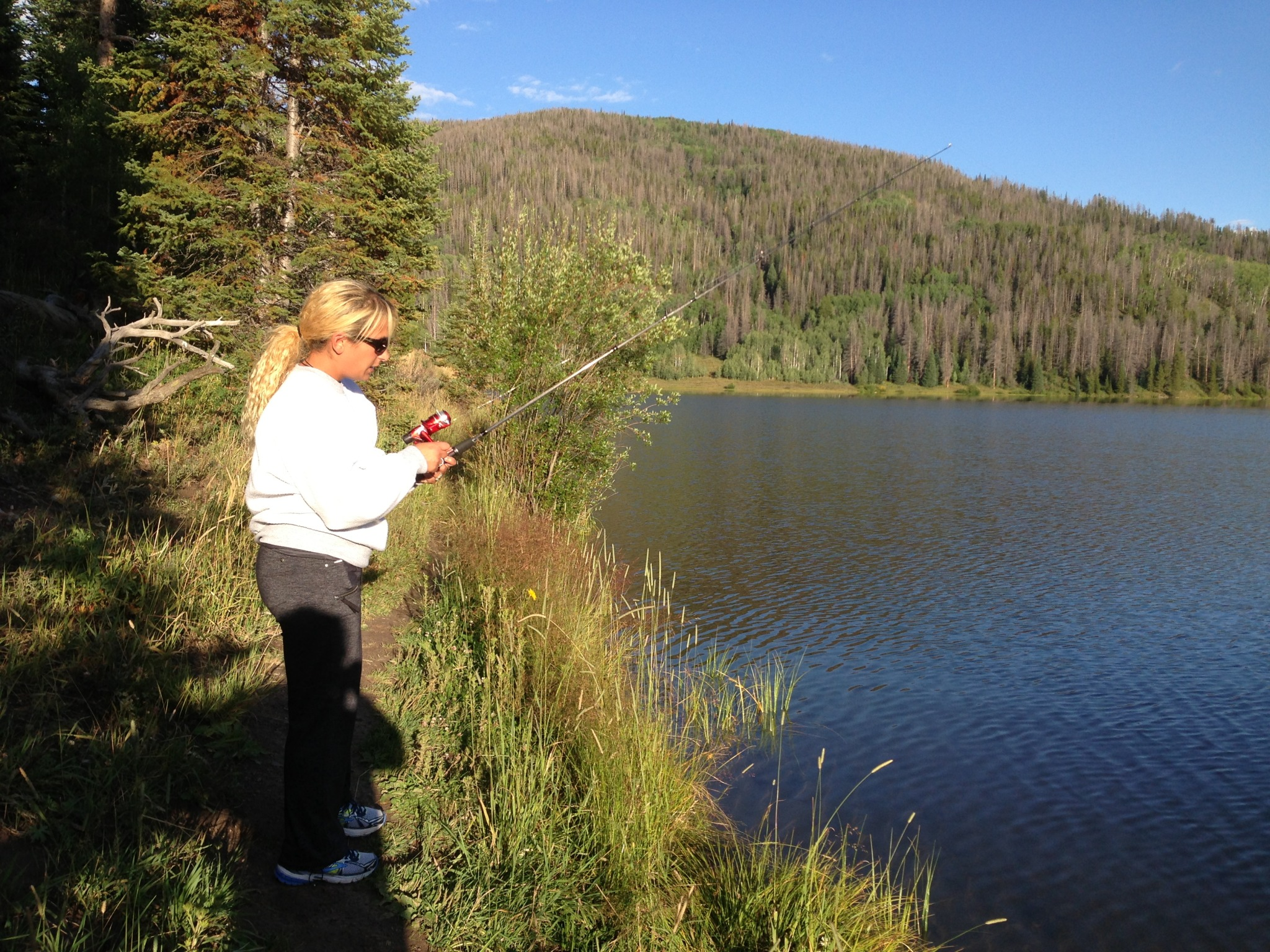 Fishing at Pearl Lake, Colorado