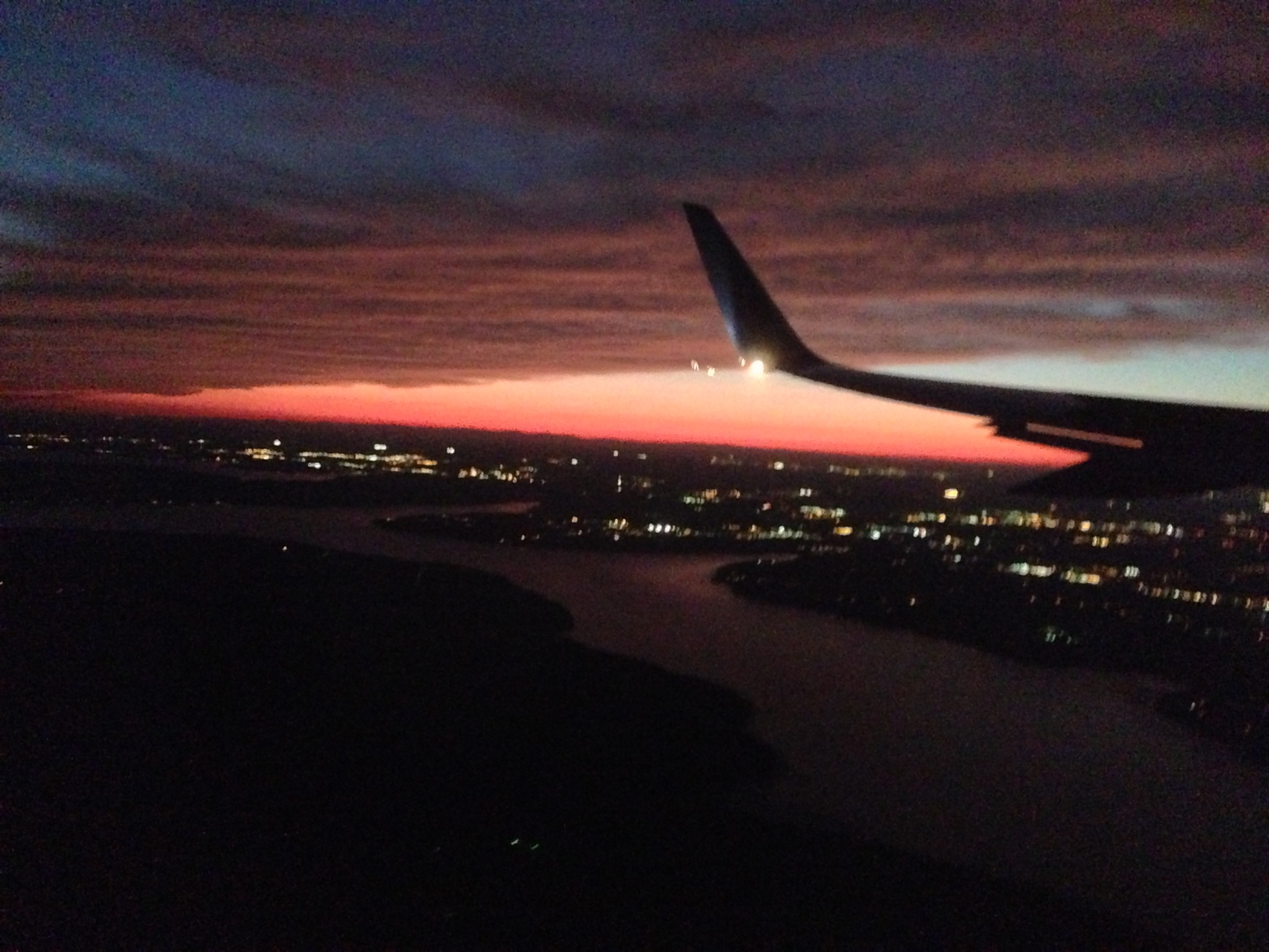 The flight returning to Reagan, national Airport, from New Orleans